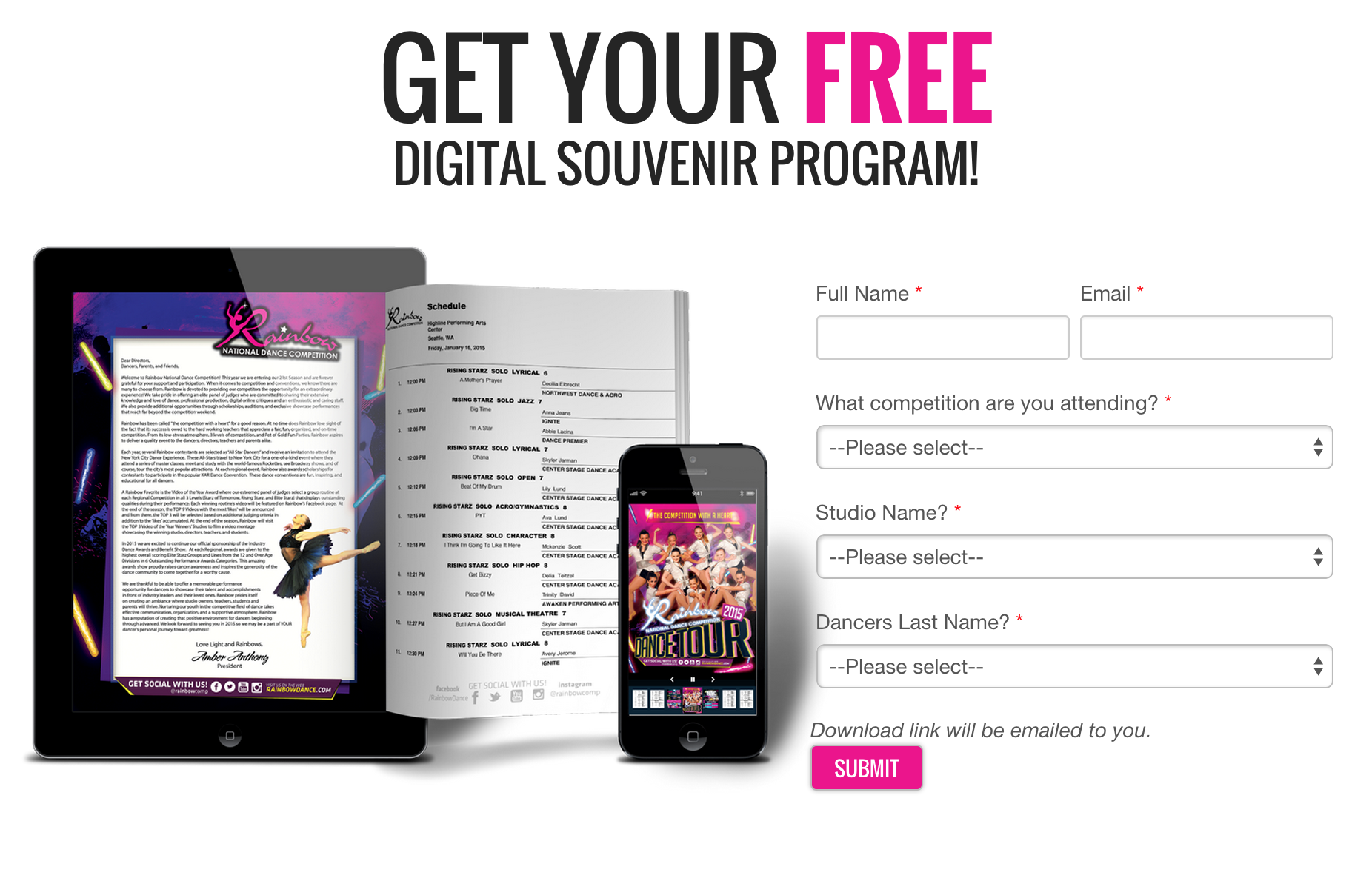 Get Your Free Digital Souvenir Program!